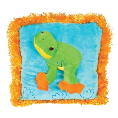 Posh 3D Frog Pillow