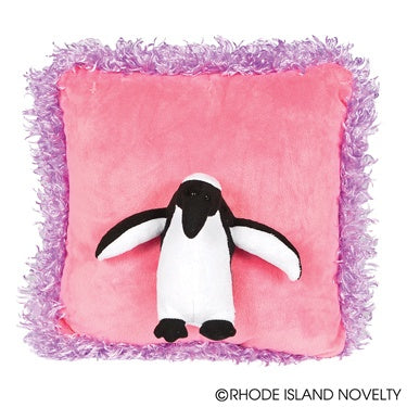 Posh 3D Penguin Pillow