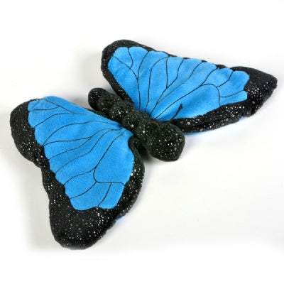 12-inch Sparkle Blue Morpho Butterfly