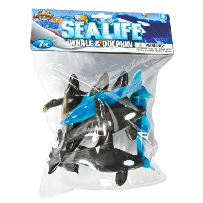 Whale & Dolphin Bag: 7-Piece Set (6-Inch Animals)
