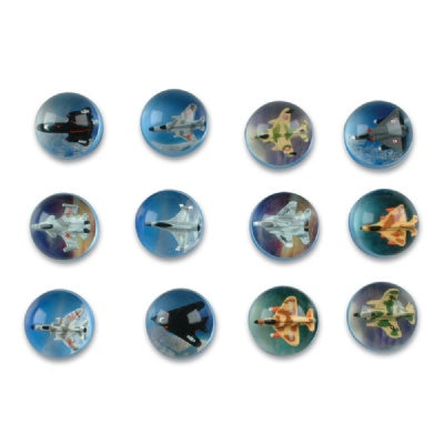 Airplane Bouncy Ball (Bulk Pack Of 12 Balls)