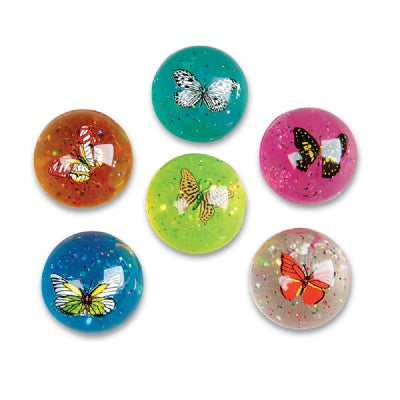 Butterfly Bouncy Ball (Bulk Pack Of 12 Balls)