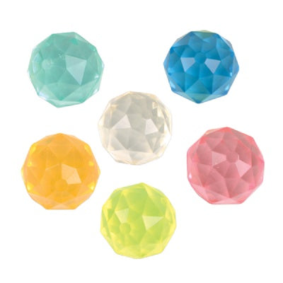49mm Gemstone Bouncy Ball (Bulk Pack Of 12 Balls)