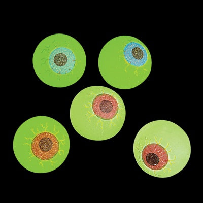 Glow-In-The-Dark Eye Ball (Bulk Pack Of 12 Balls)