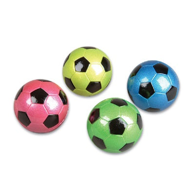 2.5-Inch Metallic Neon Soccer Ball (Bulk Pack Of 12 Balls)