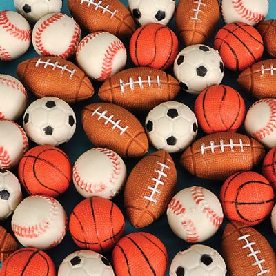 Sports Hi Bounce Ball (1 Ball) Baseball, Basketball, Football, Soccer