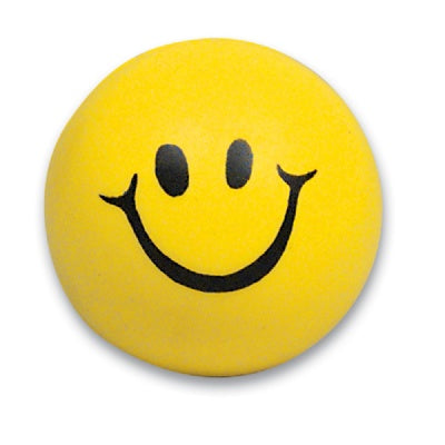2-inch Squeeze Smile Face Ball (Bulk Pack Of 12 Balls)