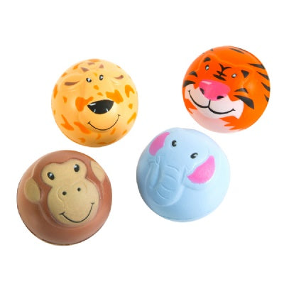 2-inch Zoo Animal Squeeze Ball (Bulk Pack Of 12 Balls)