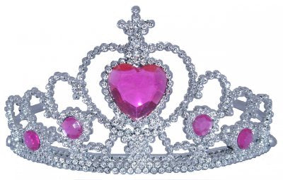 Tiara with Heart Stones