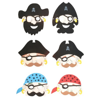 Foam Pirate Mask (Bulk Pack of 12 Masks)