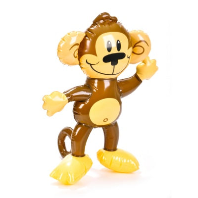 18-inch Inflatable Monkey  (Bulk Pack of 12 Inflatables)