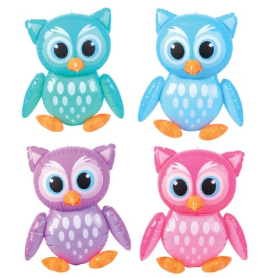 24-inch Owl Inflatable (Bulk Pack of 12 Inflatables)