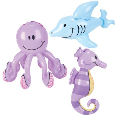 24-inch Sea Life Inflates  (Bulk Pack of 12 Inflatables)