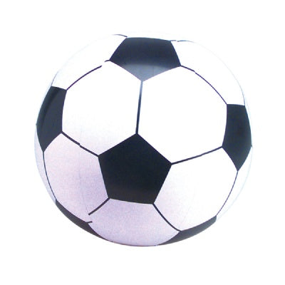 10-inch White Soccerball Inflate (Bulk Pack of 12 Inflatables)