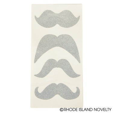 Glitter Mustache Temporary Tattoos