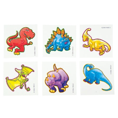 Cute Dinosaur Tattoo (Bulk Pack of 144 Tattoos)