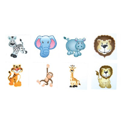 Zoo Animal Tattoos (Bulk Pack of 144 Tattoos)