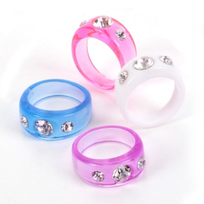 Toy 3-Diamond Stone Ring (1 Ring)