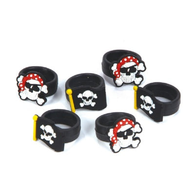 Pirate Rubber Ring (Bulk Pack of 12 Rings)