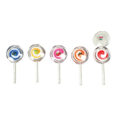 3-inch Lollipop Lip Gloss (Bulk Pack of 12 Pieces)