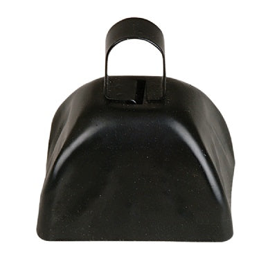 3-inch Black Metal Cow Bell (Bulk Pack of 12 Bells)