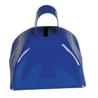 3-inch Blue Metal Cow Bell (Bulk Pack of 12 Bells)
