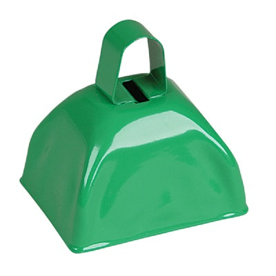 3-inch Green Metal Cow Bell (Bulk Pack of 12 Bells)