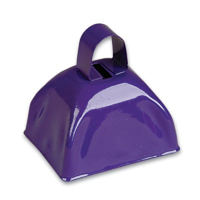 3-inch Purple Metal Cow Bell (Bulk Pack of 12 Bells)