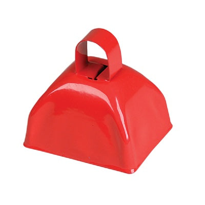 3-inch Red Metal Cow Bell (Bulk Pack of 12 Bells)