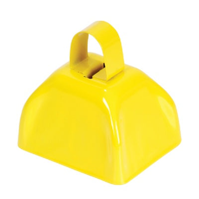 3-inch Yellow Metal Cow Bell (Bulk Pack of 12 Bells)