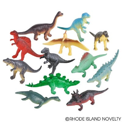 Small Plastic Dinosaurs (Bulk Pack of 12 Dinos)