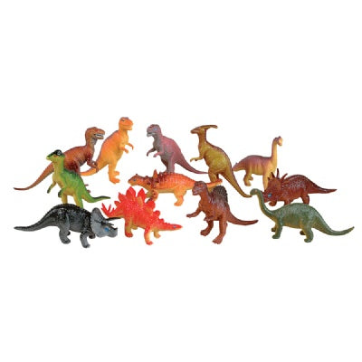 Large Toy Dinosaurs (Bulk Pack of 12 Dinos)