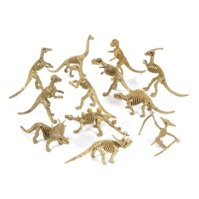 Large Dinosaur Skeleton Figure (Bulk Pack of 12 Skeletons)