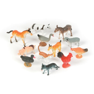 2.5-inch Farm Animals (Bulk Pack of 12 Animals)