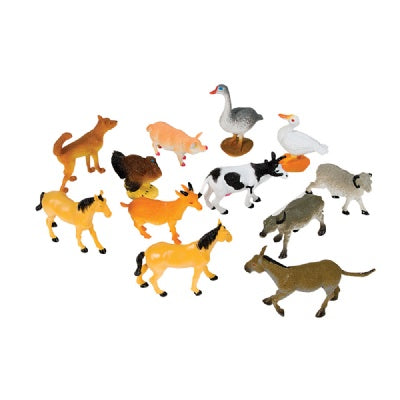 4-inch Farm Animals (Bulk Pack of 12 Pieces)