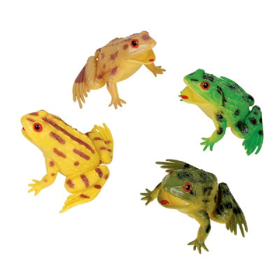 3-inch Squeak Frogs (Bulk Pack of 12 Frogs)
