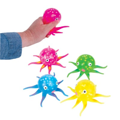 Squeeze Jelly Octopus (Bulk Pack of 12 Octopus)