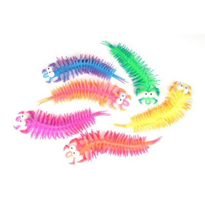 11-inch Stretchy Bug-Eyed Centipede (Bulk Pack of 12 Centipedes)