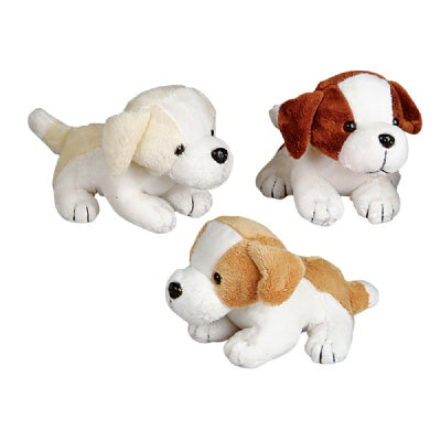 Bulk Pack of 12 Small Plush Dogs (6-inch)