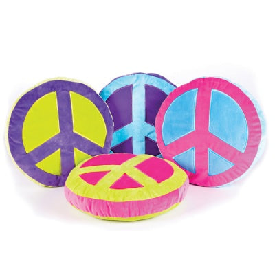 Plush Peace Sign Pillow