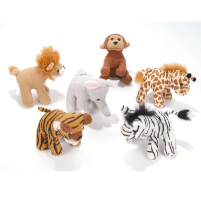 5-inch Zoo Animal Plush (Bulk Pack of 12 Pieces)