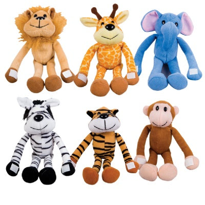 7.5-inch Hug Me Zoo Animals  (Bulk Pack of 12 Pieces)