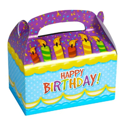 6.25-inch Happy Birthday Treat Boxes  (Bulk Pack of 12 Boxes)