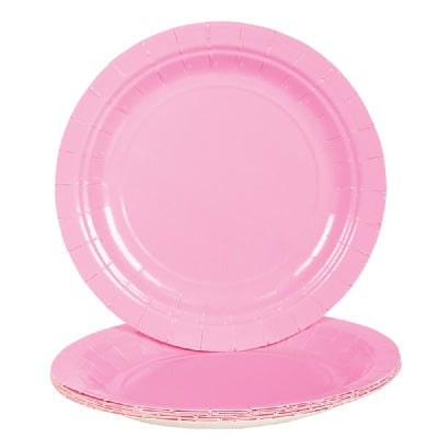 Light Pink Paper Plates (Bulk Pack of 25 Plates)