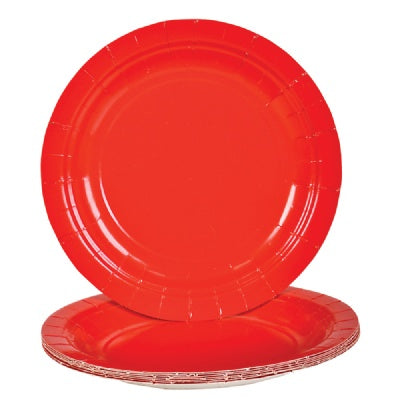 Red Paper Plates (Bulk Pack of 25 Plates)