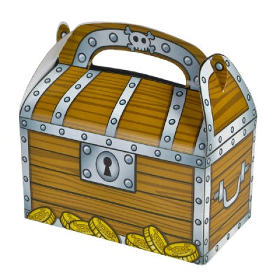 Treasure Chest Treat Boxes  (Bulk Pack of 12 Boxes)