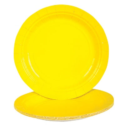Yellow Paper Plates (Bulk Pack of 25 Plates)
