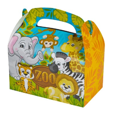 6.25-inch Zoo Animal Treat Boxes (Bulk Pack of 12 Boxes)