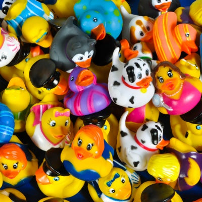 2-inch Rubber Ducky Mix (Bulk Pack of 50 Ducks)