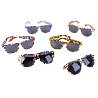 Safari Print Sunglasses (Bulk Pack of 12 Sunglasses)